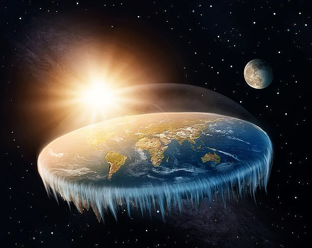 Теория плоской Земли продолжает набирать популярность на просторах США. Фото: DailyMail