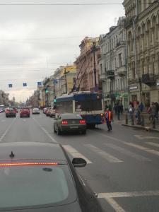 Авария на Невском проспекте. Фото: vk.com/spb_today