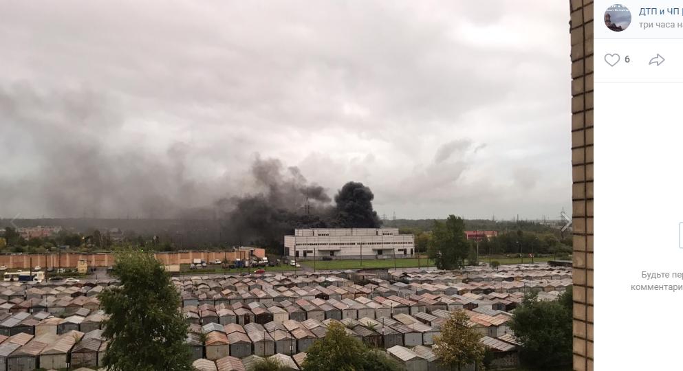 ВПетербурге из-за пожара наподстанции произошел блэкаут