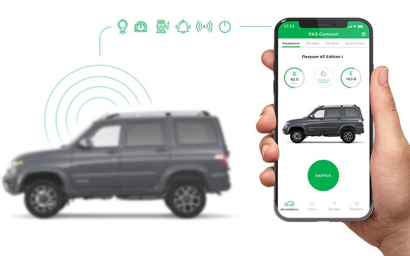 В автомобилях УАЗ появится функция запуска двигателя с телефона