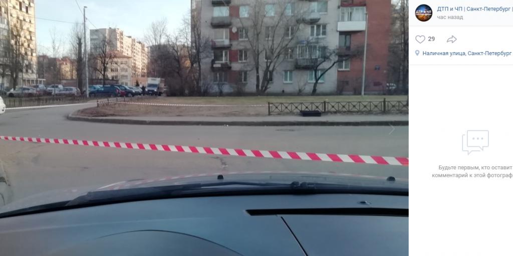 Улицу на Васильевском оцепили из-за возможного «минирования»