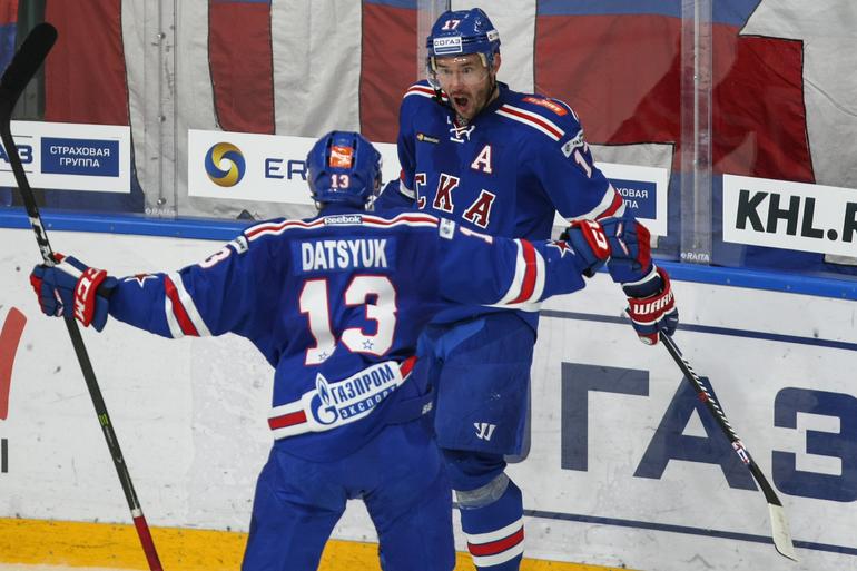 Петербургский СКА потерпел четвертое поражение подряд в КХЛ