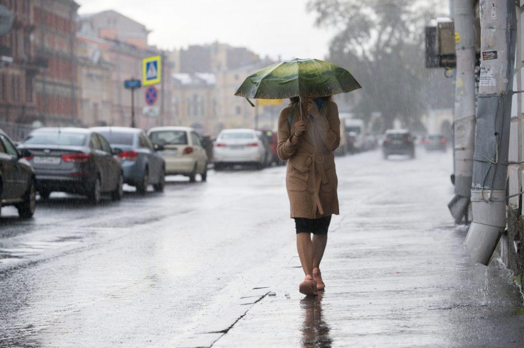 В Петербурге в понедельник снова будет ветрено и дождливо