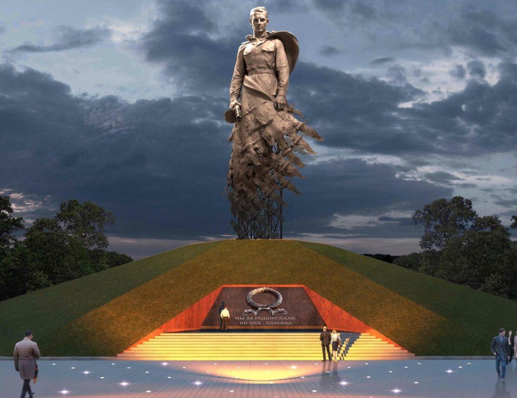 Путин и Лукашенко открыли под Ржевом памятник Советскому солдату