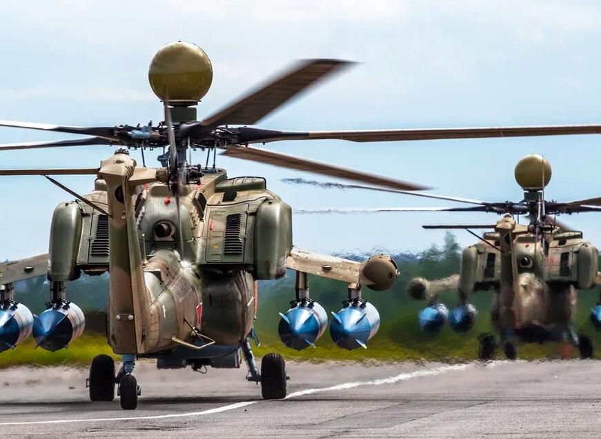 Два новых Ми-28УБ передали на вооружение Ленинградской армии ЗВО в Петербурге