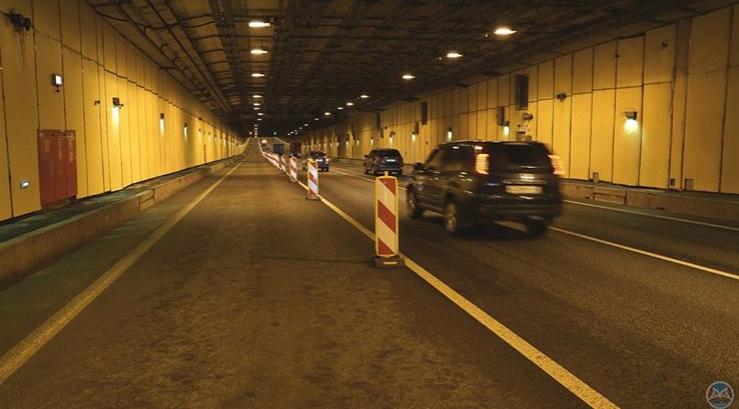 Движение в тоннеле дамбы частично перекроют из-за ремонта