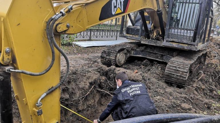 В Волхове при обрушении траншеи погиб рабочий