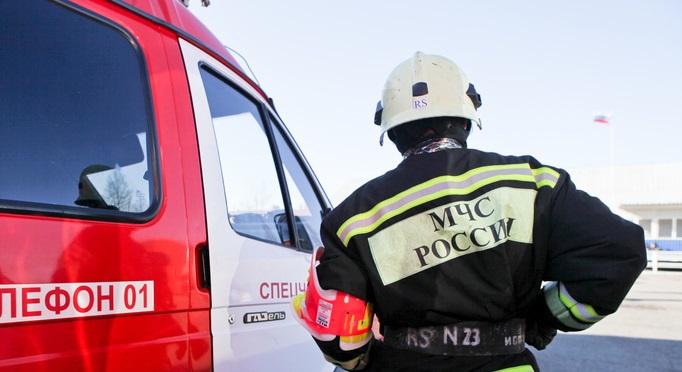 В Гатчине спасатели потушили горящий автомобиль