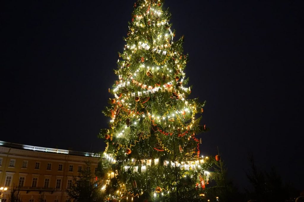Елка останется на Дворцовой площади до конца января