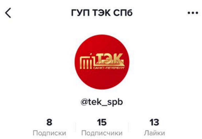 В ГУП «ТЭК СПб» объяснили, зачем завели аккаунт в TikTok