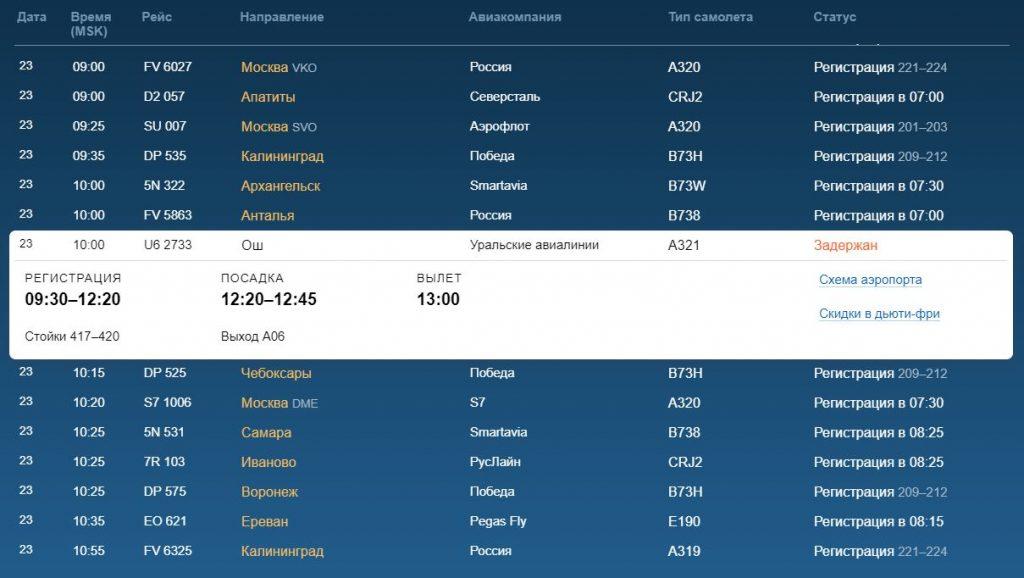 В Пулково 23 февраля задержали один рейс до Киргизии