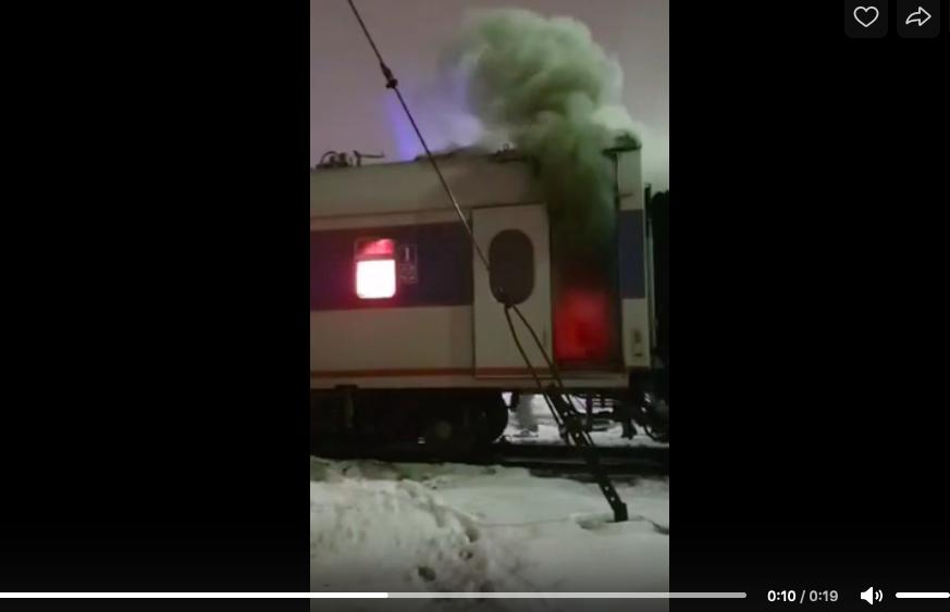 В Петербурге загорелся вагон «Невского экспресса»