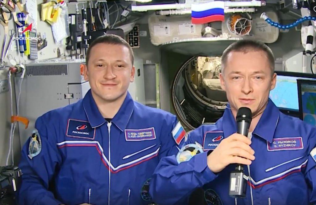 Космонавты поздравили россиянок с 8 марта с орбиты Земли
