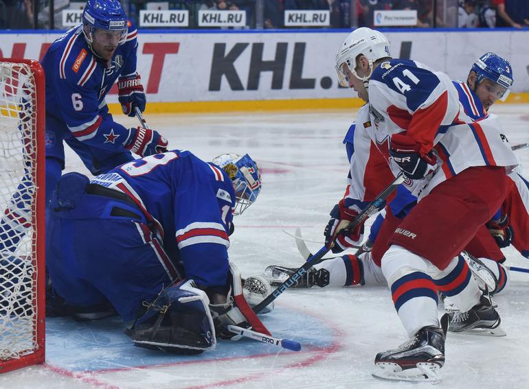 СКА одержал победу над ЦСКА в матче полуфинала Кубка Гагарина