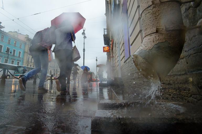 В Петербурге в воскресенье ожидаются грозы и дожди