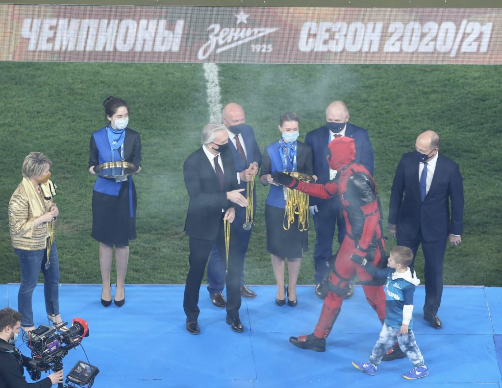 Дзюба отметил чемпионство в костюме Дэдпула
