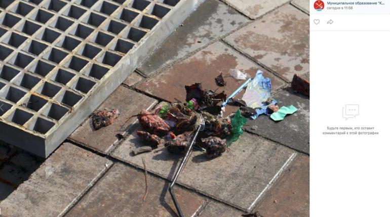 В Кировске дети в очередной раз наполнили мусором декоративный фонтан