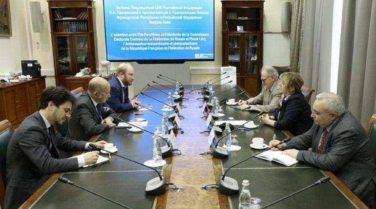 Председатель ЦИК России встретилась с Чрезвычайным и Полномочным Послом Французской Республики в Российской Федерации Пьером Леви
