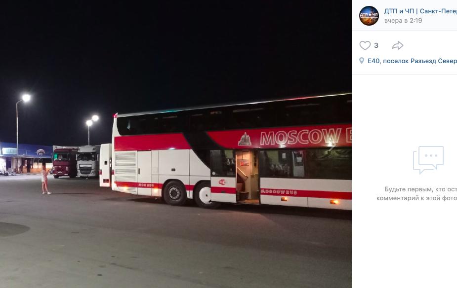 Пассажиры туристического автобуса Петербург — Крым вновь застряли на полпути