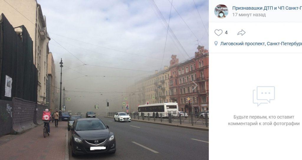 Крупный пожар в доме на Лиговском локализован
