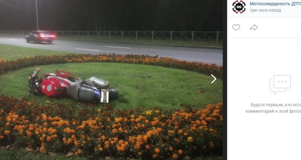 Мотоциклист получил тяжелые травмы в ДТП на проспекте Непокорённых