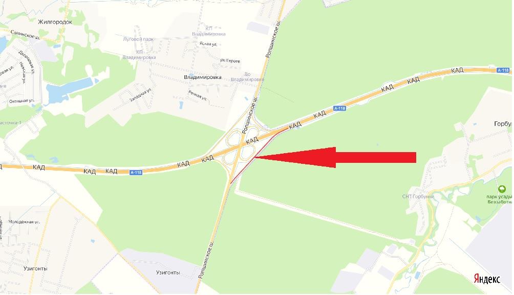 На развязке КАД с Ропшинским шоссе перекроют съезд